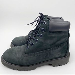 Timberland Black Suede Linden Ankle Lace  Up Boots